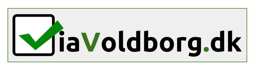 ViaVoldborg Logo med bagkant